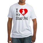 I Love My Shar Pei Fitted T-Shirt