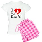 I Love My Scottish Terrier Women's Light Pajamas