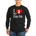 I Love My Shar Pei Long Sleeve Dark T-Shirt