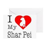 I Love My Shar Pei Greeting Card