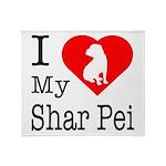 I Love My Shar Pei Throw Blanket