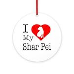 I Love My Shar Pei Ornament (Round)
