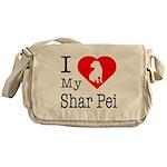 I Love My Shar Pei Messenger Bag