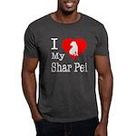 I Love My Shar Pei Dark T-Shirt