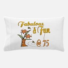 Floral 75th Pillow Case