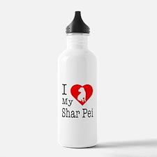 I Love My Shar Pei Water Bottle