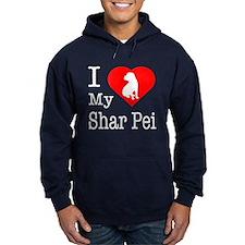 I Love My Shar Pei Hoodie