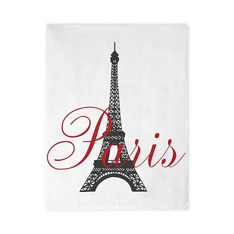 Paris Always (rouge) Twin Duvet