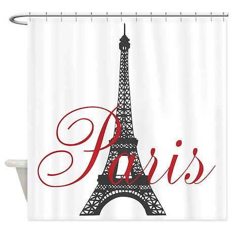 Paris Always (rouge) Shower Curtain