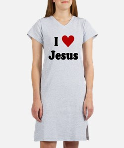I Love Jesus Women's Nightshirt