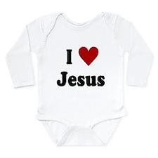 I Love Jesus Long Sleeve Infant Bodysuit