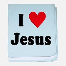 I Love Jesus baby blanket