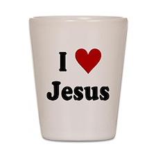 I Love Jesus Shot Glass