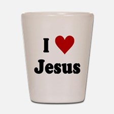 I Love Jesus Shot Glass