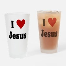 I Love Jesus Drinking Glass