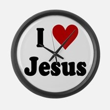 I Love Jesus Large Wall Clock