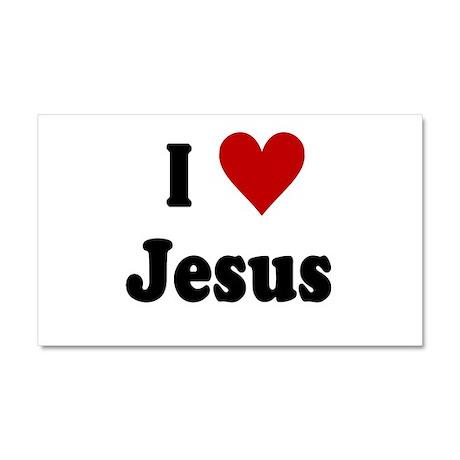 I Love Jesus Car Magnet 20 x 12 by JesusChristApparel