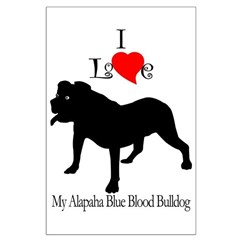 Alapaha Blue Blood Bulldog Posters