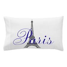 Paris Always (blue) Pillow Case