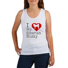 I Love My Siberian Husky Women's Tank Top