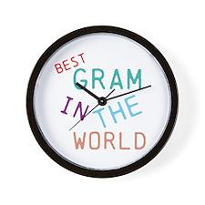 Gram Wall Clock