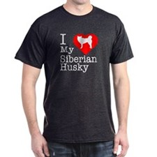 I Love My Siberian Husky T-Shirt