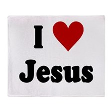 I LOVE JESUS Throw Blanket