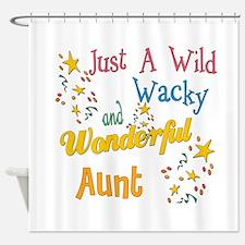 Wild Wacky Aunt Shower Curtain