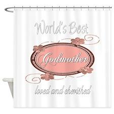 Cherished Godmother Shower Curtain