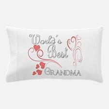 Best Grandma (Pink Hearts) Pillow Case