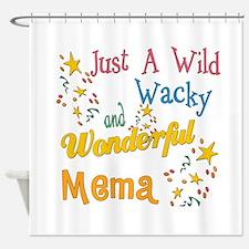 Wild Wacky Mema Shower Curtain