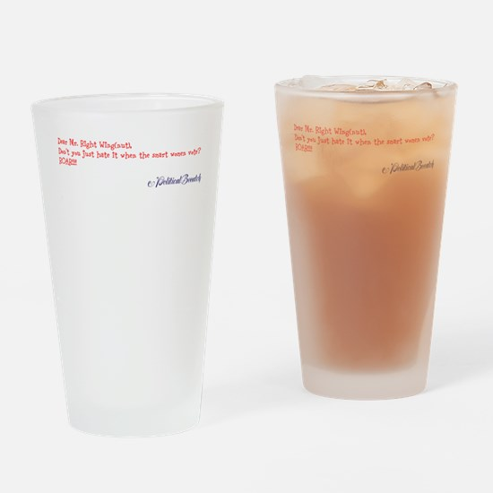 Right Wing Nut Drinking Glass