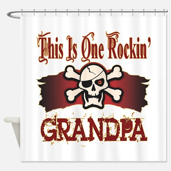 Rockin Grandpa Shower Curtain