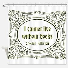 Thomas Jefferson (green) Shower Curtain