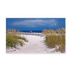 Carefree Beach Days 22x14 Wall Peel