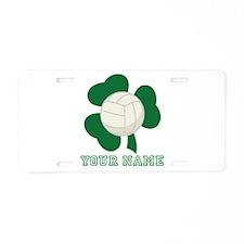 Personalized Irish Volleyball Gift Aluminum Licens