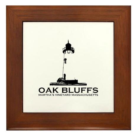 Oak Bluffs MA - Lighthouse Design. Framed Tile