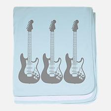 Three Guitars. baby blanket