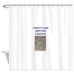geology joke Shower Curtain
