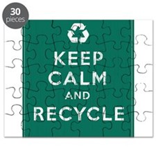 Keep Calm and Recycle Puzzle