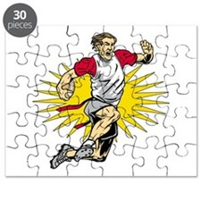 Flag Football Player Puzzle