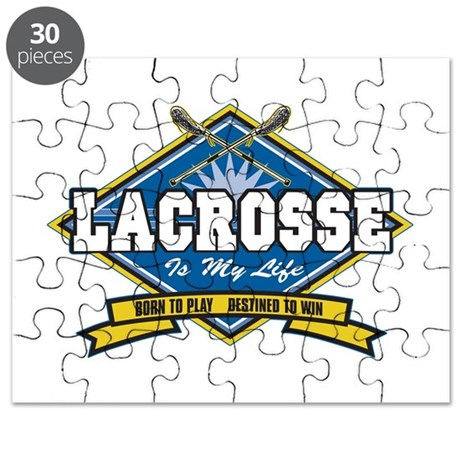 Lacrosse Is My Life Puzzle