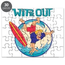 Wipe Out Surfer Puzzle