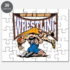 Tap Out or Pass Out Wrestling Puzzle