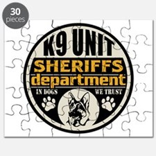 K9 In Dogs We Trust Sheriffs Department Puzzle