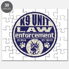 K9 In Dogs We Trust Blue Puzzle