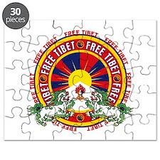 Free Tibet Snow Lions Puzzle