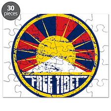 Free Tibet Grunge Puzzle