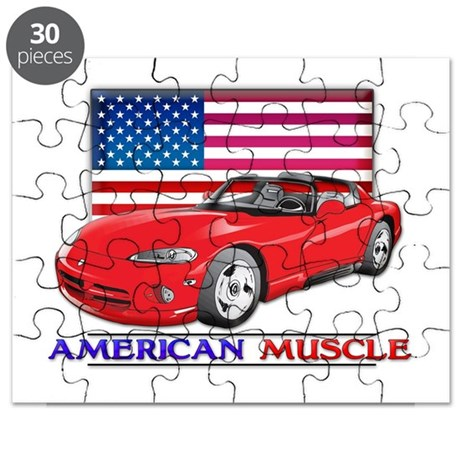 American Muscle Car Viper Puzzle