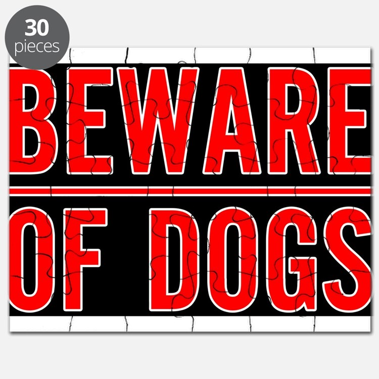 Cute Beware of dog sign Puzzle